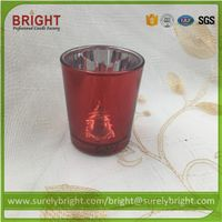 Buy Christmas Use Glass Candle Holders with Decoration Pattern