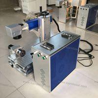 Portable Mini 30W Fiber Laser Marking Machine for Metal Materials