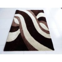 Polyester shaggy machine tufted anti-slip carpet