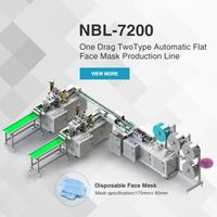 NBL-7200 One Drag Two Type Automatic Flat Face Mask Production Line