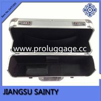 High quality silver aluminum metal briefcase with combination lock