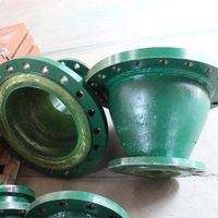 PU lined wear resistant reducer pipe