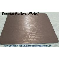 Patterned/textured Card Lamination Steel Plate YSP-P
