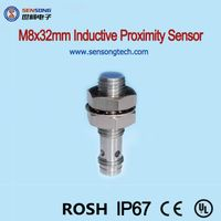 M8x32mm Length Stainless Steel Body Flush Cylinderial Inductive Proximity Sensors NPN PNP NO NC M8 C