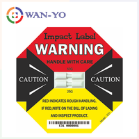 Dual Impact Label E31 : 25G + 50G Double Shock Detectors for Drop and Impact Damage