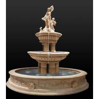 Hot Sale Outdoor Natural Stone Marble Water Fountain Price Statue