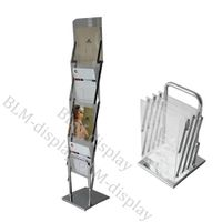 Direct Manufacture Single Sided Shelves A4 Acrylic Brochure stand/Literature RackBLM-304