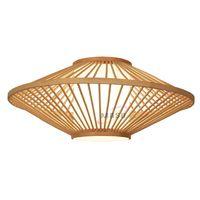 Suspended ceiling lighting turkish mosaic lamp bamboo shade pendant light led thumbnail image