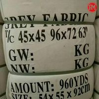 Factory Direct Wholesale Twill Polyester Grey Fabric