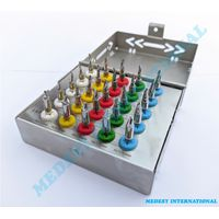 Dental Implant Conical Drills Bur Kit With Stopper & Organized Box CE 25 Pcs
