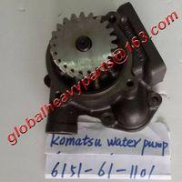 s6d125 komatsu engine water pump 6151-61-1101