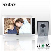 9 inch support 4 monitor + 4 camera TFT LCD video door phone door bell intercom system with outdoor