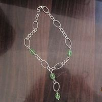 Sterling Silver Jewelry 925 Silver Necklace with Prasiolite (N-035)