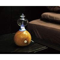 wood and glass essential oil aroma nebulizer for aromatheray