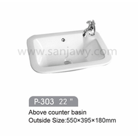 sanitary ware home using art basin, ceramic wash basin