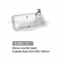 sanitary ware home using art basin, ceramic wash basin