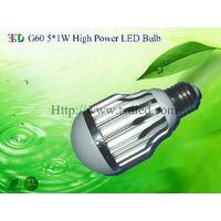 G60 5X1W High Power LED Bulb