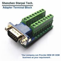 Terminal block Adapter Sub-D 9 pin female we can offer OEM block pitch 3.81mm or 5.08mm or other