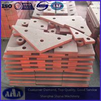 high manganese steel casting crusher liner plate
