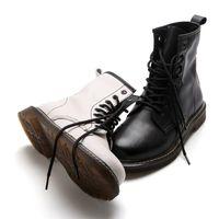 New white Martin boots spring and summer joker girl breathable joker shoes