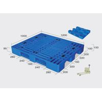 Beverage Plastic Pallets Manufacturers Single Side with 8 Steel Bars reinforced thumbnail image