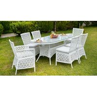 Poly rattan garden furniture set