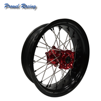 Motorcycle Motocross Supermoto Alloy Wheel complete wheels with red hub
