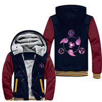 New Anime NARUTO Akatsuki Clothing Thicken Jacket Cosplay Sweatshirts Hoodie Luminous USA Size
