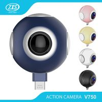 ZXS Newest dual lens OEM Acceptable VR 3D 360 degree fisheye panoramic camera ZXS-V750