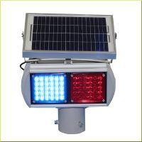 Solar red blue LED Warning Traffic Light Double Sides with 2 Moulds