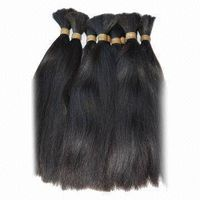 100% virgin human hair bulk extension