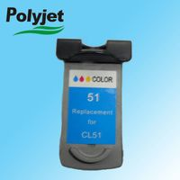 CL51 Remaufactured ink cartrdige for PIXMA iP2200/PIXMA MX308/PIXMA MX318/FAX-JX200/FAX-JX201/FAX-JX