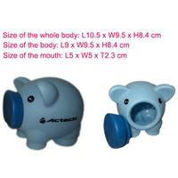 Movable mouth piggy bank for promotion