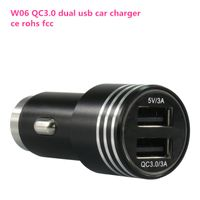 Wholesale best price top quality dual usb QC 3.0 quick car charger with lcd display thumbnail image