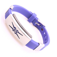 Stainless Steel Silicone Bracelet, Fashion Metal Iron Bracelet