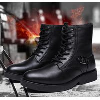 HS5 Rechargeable Electric Heated Shoes Men Ankle Boots, Electric Rechargeable Heated Shoes For Cold
