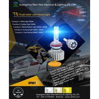 China Guangzhou New View Car led headlampT5 Dual LED