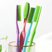 King Head Deep Clean Toothbrush with Herb Infused Medium Bristles for Cleaner, Whiter Teeth