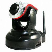 Megapixel IP Camera with 802.11 Wi-Fi, H.264/M-JPEG, Infrared LED, 32GB Maximum SD Card Storage