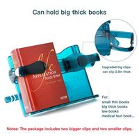 The book stand can clip the thick books as thick as 0-2.8 in and with the light thumbnail image