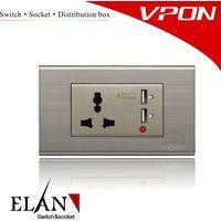 24 - Multi socket with 2 USB thumbnail image