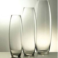 High transparent hand blown square glass vase for wedding decoration