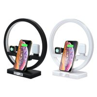 Table lamp 10W N38 Qi 4 in 1 wireless charger for earphone watch phone Charging