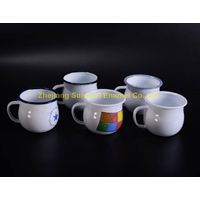 8*8cm cast iron enamel milk cup
