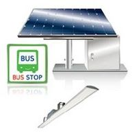 SOLAR LED BUS STOP SECURITY LIGHT