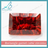 Octagon Purplish Red Synthetic Loose Cubic Zirconia Gemstone Prices
