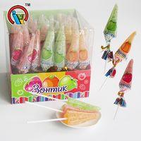Umbrella Shape Fruity Gummy Soft Jelly Lollipop Candy