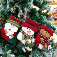 Christmas Decoration Socks Decor Pendant on Christmas Tree Santa Plush Toys thumbnail image