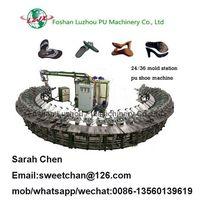 24 mold station DIP polyurethane shoes molding rotary production line thumbnail image