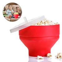 Wholesale Heat Resistant Large Silicone Reusable Popcorn Container